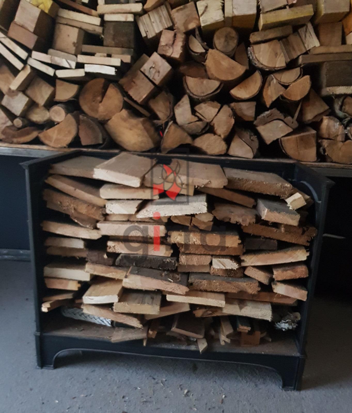 stojak na drewno metalowy